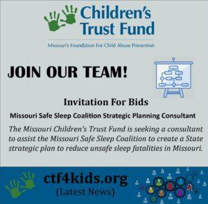 INVITATION for BIDS -- Missouri Safe Sleep Coalition Strategic Planning Consultant
